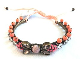 Capwell + Co. On The Bright Side Crystal Beaded Adjustable Bracelet NWT image 1