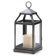 Candle Lantern Decor, Small Outdoor Rustic Silver Metal Candle Lantern H... - €27,18 EUR