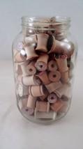 119 Pc Lot Old Vintage Thread Spools & Glass 1/2 Gallon Jar Prim Primmie... - $47.17