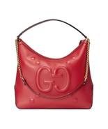 Gucci Red Leather Embossed Dadini Apollo Gold Chain Handbag - $2,800.00
