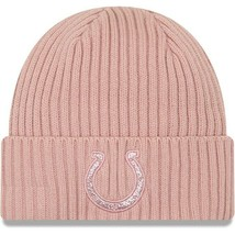 Knit Hat Women's New Era Light Pink Indianapolis Colts Team Glisten NEW w/Tags - $17.81
