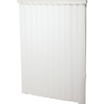 "Primary image for Vinyl 102 x 96 White 3-1/2"" Vertical Blind - Vertical Blinds 102W x 96L"
