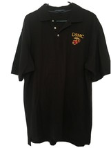 USA Marines Men's Short Sleeve Shirt Sz L USMC Chestnut Hill Black - $29.91
