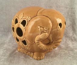 Vintage Ceramic Elephant Tea light Candle Holder by Hallmark - $21.09