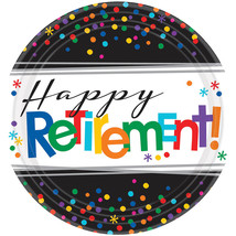 "Happy Retirement Round Party Plates, 10.5"", 8 Ct. - $30.83"