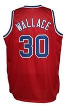 Rasheed Wallace #30 Washington Retro Basketball Jersey New Sewn Red Any Size image 2