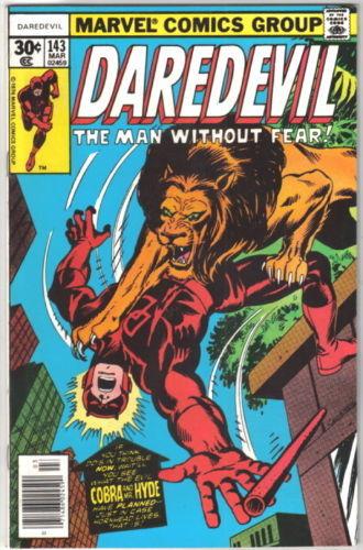 Daredevil Comic Book #143 Marvel Comics 1977 VERY FINE+