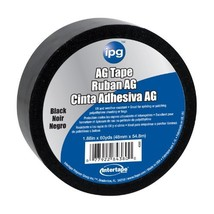 Intertape Polymer Group 4380 Vinyl AG Tape, 2-Inch x 60-Yard, Black - $18.30