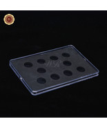 Airtight Plastic Coin Holder Clear Acrylic Display Frame For Diameter 20... - $10.49
