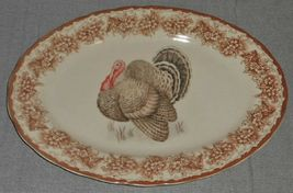 Gooseberry Patch THANKSGIVING TABLE THEME Oval Serving Platter TURKEY MOTIF image 6