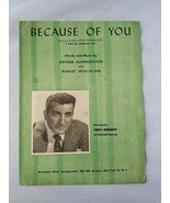 Because Of You Tony Bennett Vintage Spartito 1940 i Was An Americani Spia - $47.76