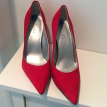 Red Suede Guess Pointy Toe Heels 7.5 - $65.00