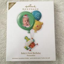 Hallmark Keepsake Baby's First Birthday Personalized Photo Ornament New ... - $9.89