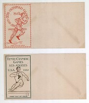 2 Blank 1932 First Day of Issue Cover Scott #718 & 719 Olympic Games Env... - $9.89