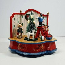 Decorating Christmas Tree Music Box Germany Wooden Figures Tree Lights U... - $24.99