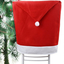 Removable Santa Red Hat Chair Covers Christmas Decorations Dinner Chair ... - $10.99