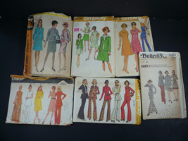 Set of 6 Vintage Sewing Patterns Dresses & Outfits from the 1960's - $20.00