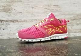 Womens Reebok Realflex Running Shoes Sz 9 B Used Pink Yellow V45149 Athletic - $19.80