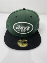 New York Jets New Era Hat 59fifty Men's Green Black Fitted 7 1/4 $34.99 - $22.76