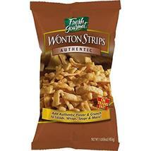 Fresh Gourmet Wonton Strips, Authentic, 1 Pound image 3