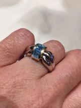 Genuine Blue Topaz Vintage 925 Sterling Silver ... - $123.75
