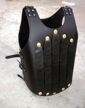 Collectable medieval leather jacket armor vest armour leather jacket - $197.01