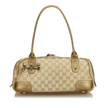 Authentic Gucci Brown GG Jacquard Princy Shoulder Bag Italy - $382.42