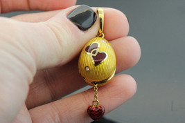 Victor Mayer Faberge 18k Yellow Gold & Diamond Egg Pendant w heart    #3... - $2,079.00