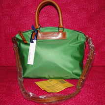 Dooney & Bourke Nylon Green Satchel Handbag NWT
