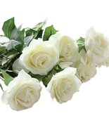 10 pcs Latex Real Touch Rose Decor Rose Artificial Flowers Silk Flowers ... - $17.88
