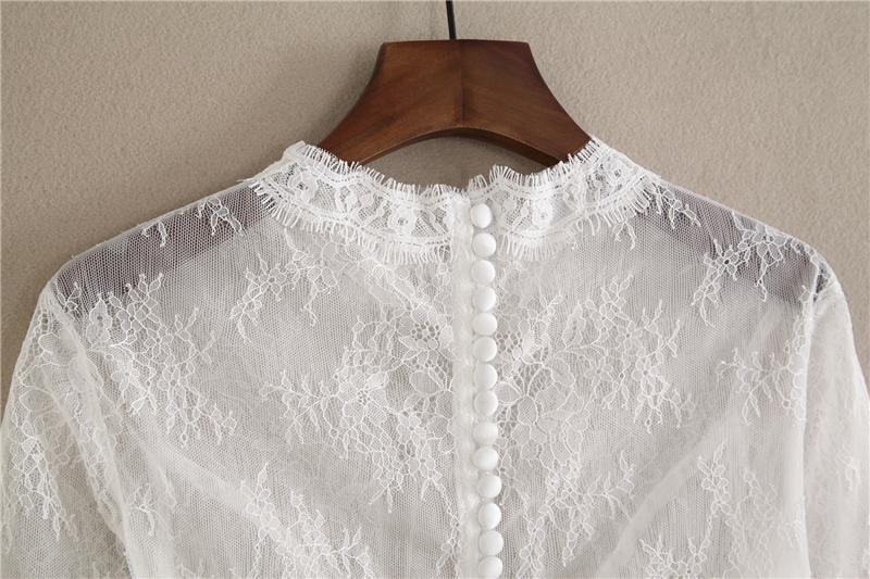 Bridesmaid lace tops crop 6