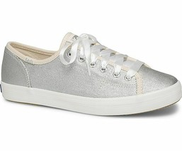 Keds Womens Kickstart Matte Brushed Metallic Sneakers Silver - $45.00