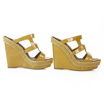 CHRISTIAN LOUBOUTIN Salamanca Espadrille beige Patent Leather Wedges Shoes sz 37 image 5