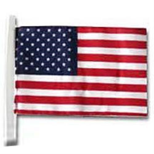 25 FT. ALUMINUM FLAGPOLE (1) 3'x5' FLAG (1)4'x6' FLAG &(4)U.S.CAR ANTENNA FLAGS