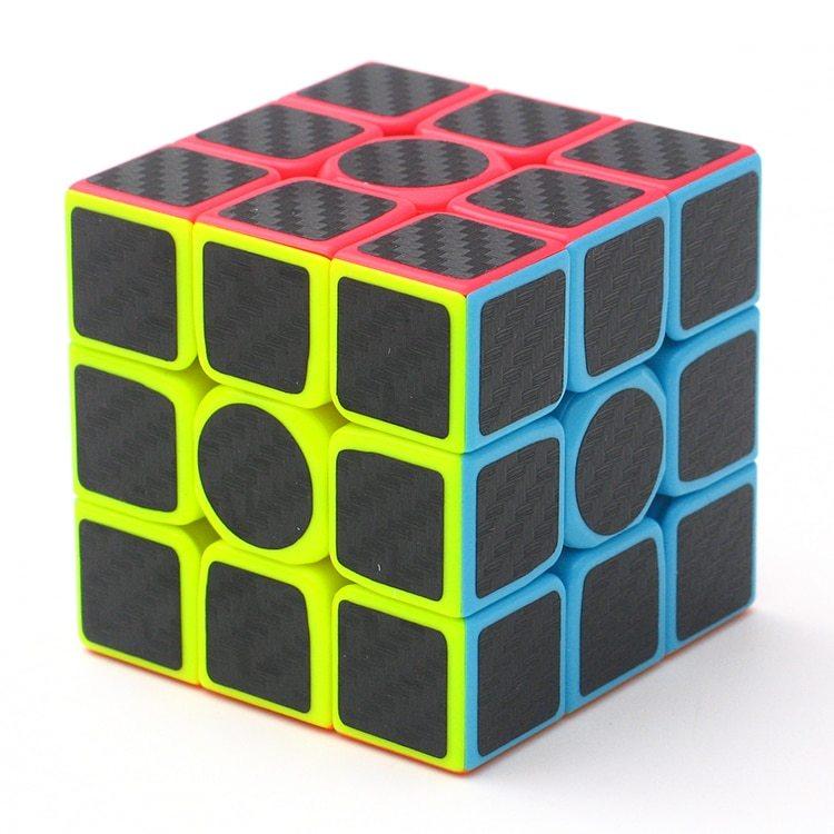 Carbon fiber sticker speed 3x3x3 magic magico rubik s cube fidget cube magico educational brain