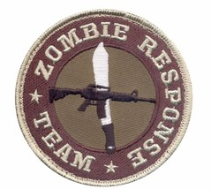 MILITARY TACTICAL ZOMBIE RESPONSE TEAM HOOK & LOOP EMBROIDERED PATCH - $15.33