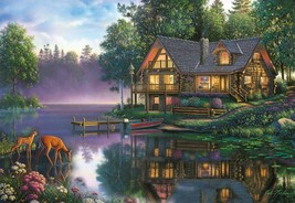 Buffalo Games CABIN FEVER 2000 Piece Jigsaw Puzzle by Kim Norlien  - $15.84