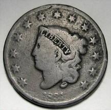 1831 Large Cent Coronet Head GOOD AD228 - $18.32