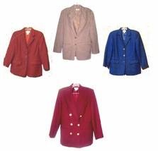 Talbots Wool Blazer Suit Jackets in Blue, Maroon & Camel Beige Sz 8 - $21.37+