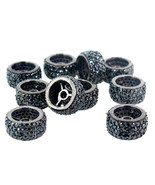 10 MM Spinel Pave Rondelle Wheel Spacer 925 Sterling Silver Finding 3 Pc... - $350.63