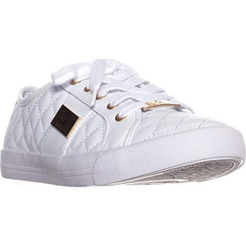 G by GUESS Backer2 Women's Lace-Up Sneakers Shoes (9, White)