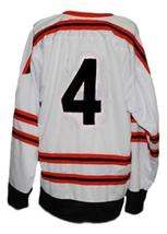 Bobby Orr #4 All Star Retro Hockey Jersey New White Any Size image 2