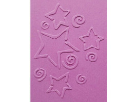 Sizzix Metal Embossing Plate, Stars & Swirls #38-9653 image 2