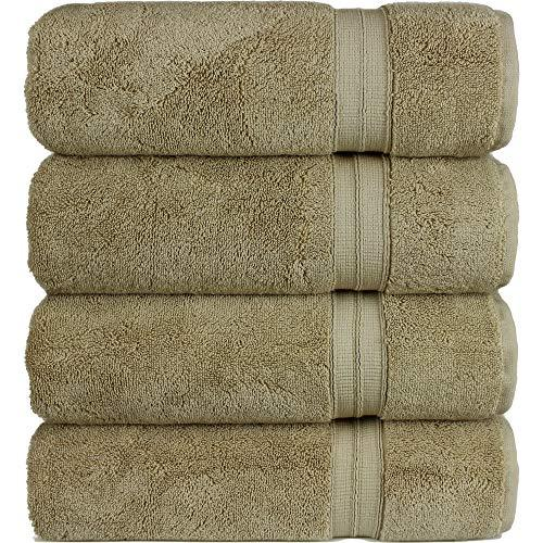 Spa Quality Towels: Hotel And Spa Quality 4-Piece Bath Towels, Soft And Thick