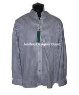 NWT BOBBY JONES L casual dress work shirt striped navy blue L/S button d... - $41.71