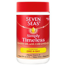 Seven Seas Simply Timeless Marine Oil with Cod Liver Oil Capsules x 30 - $6.23