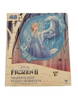 Frozen 2 CIRCLE SHAPED PUZZLE! Elsa & Nokk Disney 48 piece Puzzle New - $6.92