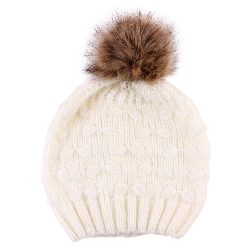 Primary image for Naiveroo Warm Fur Ball Parent-child Caps Warm Knit Cap Hedging Hats Women's Wint