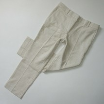 NWT Ann Taylor The Ankle Pant in Natural Texture Devin Fit Crop Trousers 6 - $27.00