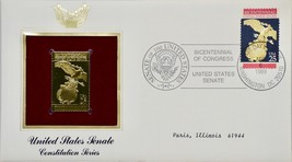 1989 P.C.S. United States Senate Constitution Series Stamp First Day Iss... - $19.99